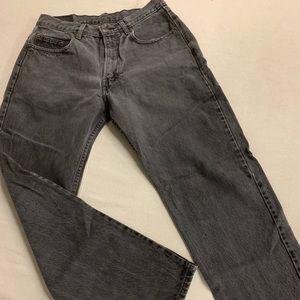 32x30 Black Gap Jeans Loose Fit USA Made Distress